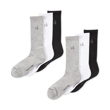 商品Men's Athletic Performance Crew Socks 6-Pack图片