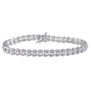 商品Amour 2 CT TW Diamond Tennis Bracelet in Sterling Silver JMS005214图片