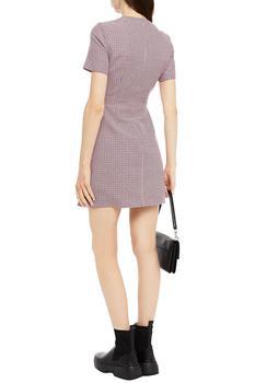 商品Rida houndstooth cotton-blend jacquard mini dress图片
