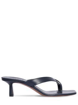 商品55mm Leather Thong Sandals图片