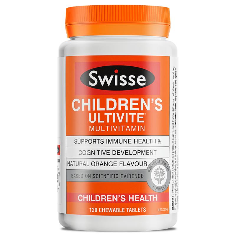商品Little Swisse斯维诗儿童营养复合维生素咀嚼片120片图片