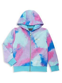 商品Little Girl's & Girl's Watercolor Zip-Up Sweatshirt图片