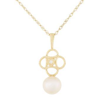 商品14k Yellow Gold Freshwater Pearl Pendant图片