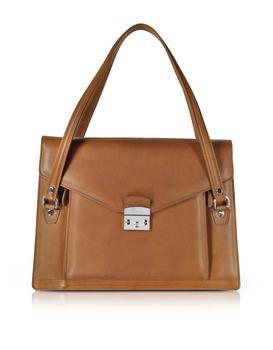 商品Double Compartment Calf Leather Women's Briefcase图片