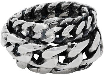 商品Silver Spiral Chain Ring图片