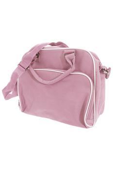 商品Bagbase Compact Junior Dance Messenger Bag (15 Liters) (Classic Pink/Light Grey) (One Size)图片