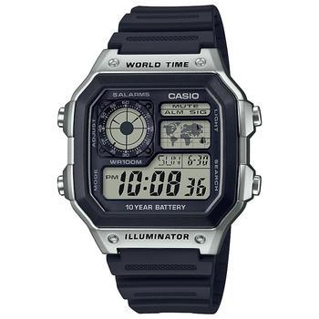 商品男式数字黑色树脂表带手表42.1mm图片
