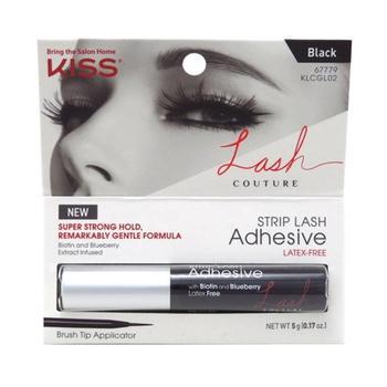 商品Kiss Lash Couture Strip Eye Lash Adhesive Black, 1 Ea图片