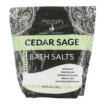 商品Soothing Touch Cedar Sage Restoring Bath Salts Pouch 32 Oz图片