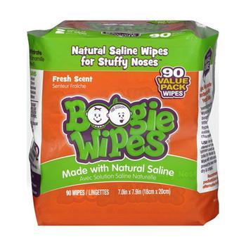 商品Boogie Fresh Scent Nose Wipes with Natural Salin, 90 Ea图片
