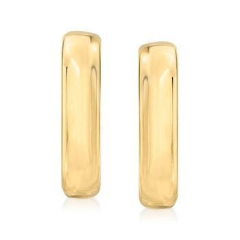 商品Ross-Simons Italian 18kt Gold Over Sterling J-Hoop Earrings图片