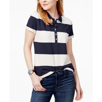 商品Striped Piqué Polo衫图片