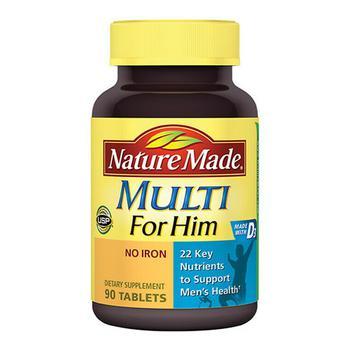 商品Nature Made Multi For Him Multivitamin And Multimineral Tablets - 90 Ea图片