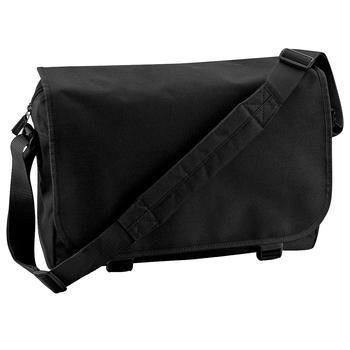 商品Bagbase Adjustable Messenger Bag (11 Liters) (Pack of 2) (Black) (One Size)图片