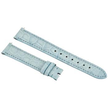 商品Hadley Roma Matte Baby Blue 16 MM Alligator Leather Strap图片