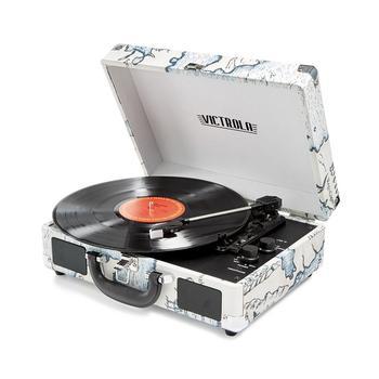 商品Victrola Bluetooth Suitcase Record Player With 3-Speed Turntable图片