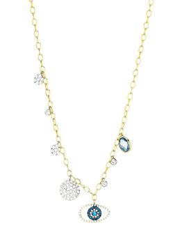 商品14K Yellow Gold, Diamond & Multi-Stone Eye Pendant Necklace图片