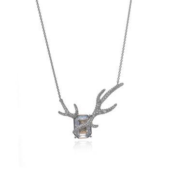 商品Swarovski Polar Bestiary Rhodium And Crystal Necklace 5497638图片