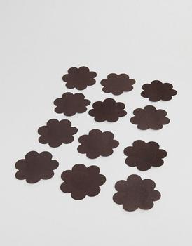 商品MAGIC Bodyfashion satin rosette 10-pack water resistant nude secret nipple covers in dark图片