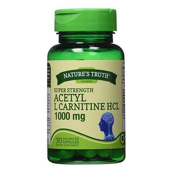 商品Natures Truth Vitamins Super Strength Acetyl L-Carnitine HCL 1000 mg Capsules, 30 Ea图片