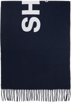 商品Navy Wool Logo Scarf图片