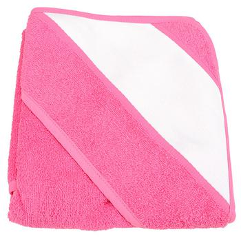 商品A&R Towels Baby/Toddler Babiezz Sublimation Hooded Towel (Pink) (One Size)图片