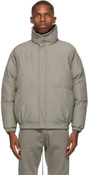 商品Taupe Nylon Puffer Jacket图片