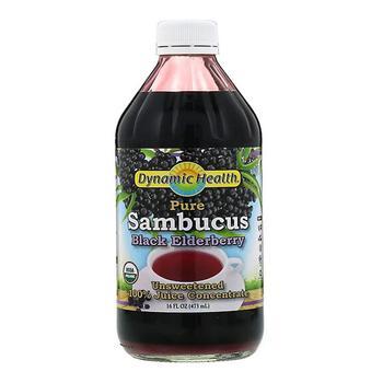 商品Dynamic Health Concentrate Sambucus Black Elderberry Juice, 16 Oz图片