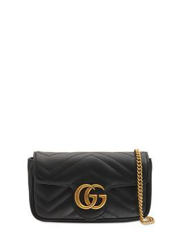 商品Supermini Gg Marmont Leather Bag图片