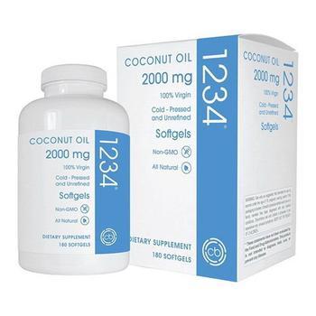商品Creative BioScience Coconut Oil 2000 mg Softgels Formerly 1234, 180 Ea图片
