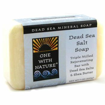 商品One With Nature Rejuvenating Dead Sea Mineral Bar Soap, Dead Sea Salt - 7 Oz图片