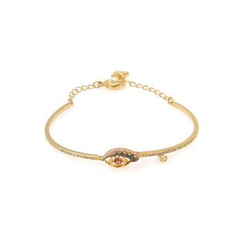 商品Swarovski New Love Gold Tone Dark Multi Colored Crystal Bracelet 5483977图片