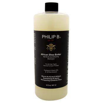 商品African Shea Butter Gentle Conditioning Shampoo by Philip B for Unisex - 32 oz Shampoo图片