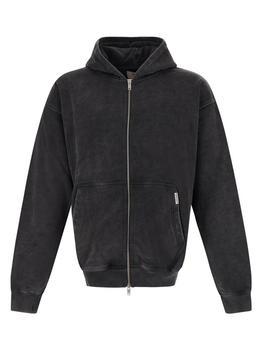 商品Black hoodie zip closure jacket图片