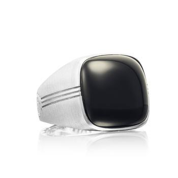 商品Tacori Cushion Cabochon Ring featuring Black Onyx图片