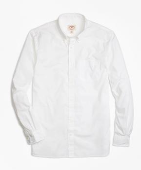 商品Solid White End-on-End Sport Shirt图片