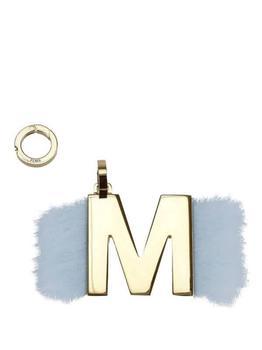 商品Fendi Turquoise / Gold ABCLICK M Mink Fur Detail Pendant图片