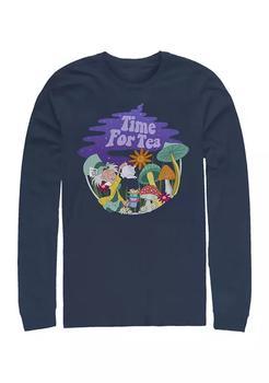 商品Tea Time Filled Long Sleeve Crew Graphic T-Shirt图片