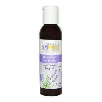 商品Aura Cacia Lavender Harvest Aromatherapy Body And Massage Oil, 4 Oz图片