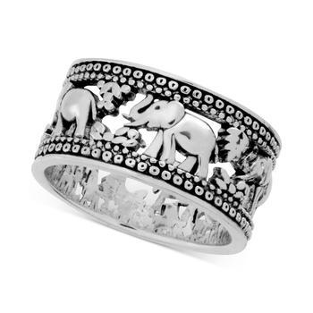 商品Elephant Band Ring in Silver-Plate图片