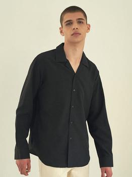 商品Basic Pajama Shirt Black图片