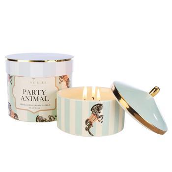 商品Yvonne Ellen Party Animal 3 Wick Candle - Cranberry & Oakwood图片