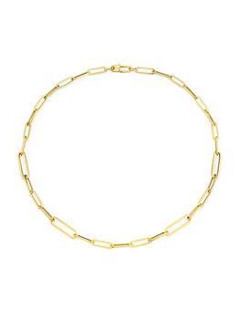 """商品Designer 18K Yellow Gold Oval-Link Necklace/17""""图片"""