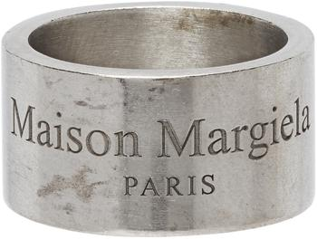 商品Silver Wide Logo Ring图片