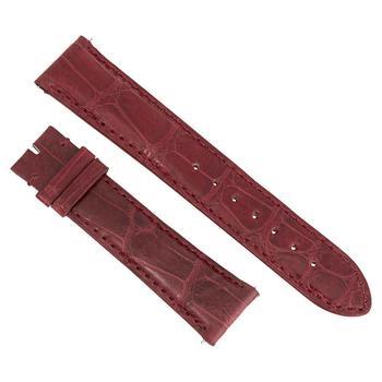 商品Hadley Roma 21 MM Shiny Wine Alligator Leather Strap图片