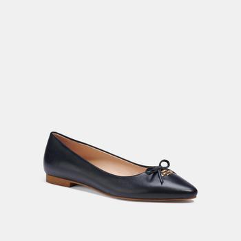 商品蔻驰 奥莱芭蕾鞋 女款单鞋 女士尖头蝴蝶结鞋 No. C2911多色可选图片
