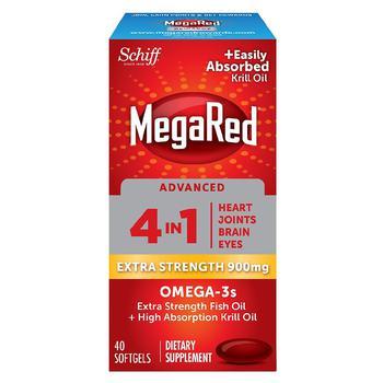商品Advanced 4in1 500mg Omega-3 Fish + Krill Oil Supplement Softgel图片