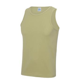 商品Just Cool Mens Sports Gym Plain Tank/Vest Top (Desert Sand)图片