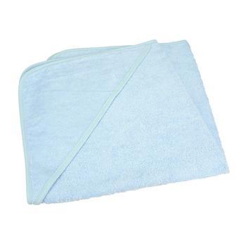 商品A&R Towels Baby/Toddler Babiezz Medium Hooded Towel (Light Blue) (One Size)图片