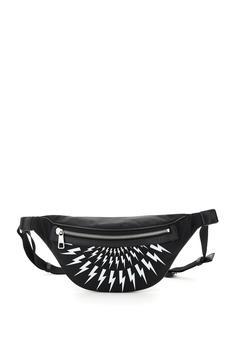 商品Neil Barrett Fair-isle Thunderbolt Belt Bag图片